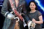 Reji with a pirate