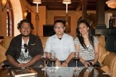 Ashish, Dibesh and Reji at Napa wine tasting
