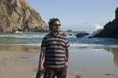 Ashish at Pfeiffer Beach, Big Sur, CA