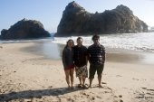 Reji, Dibesh and Ashish at Pfeiffer Beach, Big Sur, CA