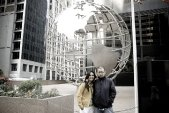 Reji and Dibesh outside the Willis Tower (Sears Tower)