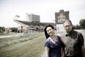 Dibesh and Reji at Iowa State University in Iowa