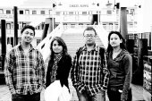 Umesh, Anupama, Dibesh and Reji at Sacramento old rail road